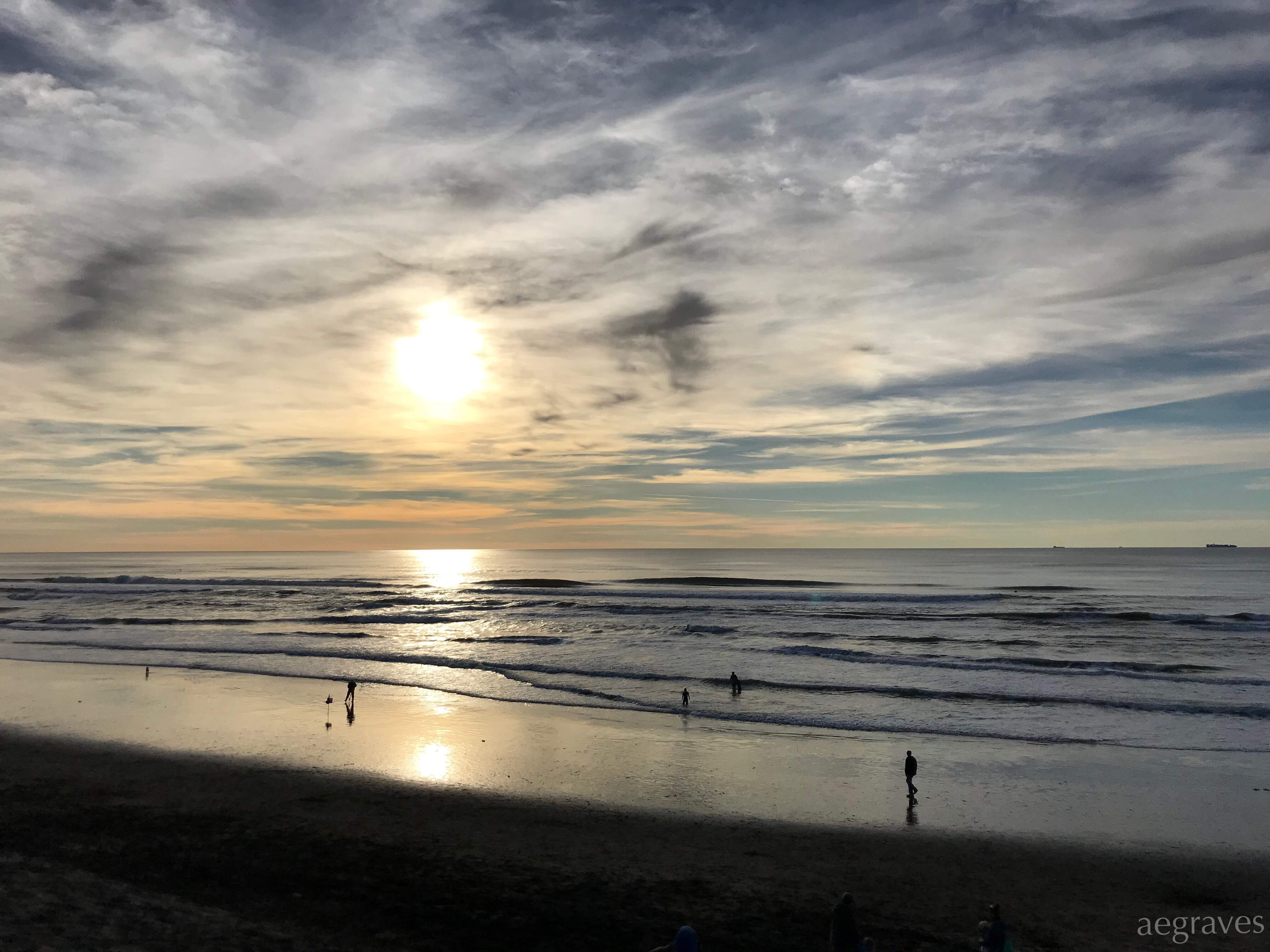 The evening sun on New Year's Day 2019 in San Francisco by A.E. Graves
